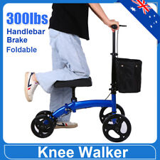 Steerable Knee Walker Scooter Mobility Alternative Crutches Wheelchair 300lbs AU