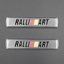2pcs Ralliart 3D Metal Refitting Side Fender Emblem Sticker Badge F033