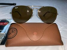 Ray-Ban Aviator Sunglasses RB3025 58mm 001/33 Gold Frame with Brown Lenses