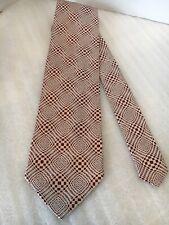 Enrico Venturi Red Geomatric Pattern Silk Tie NWT Italy