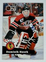 1991-92 Proset Dominik Hasek #529 Rookie Card RC Chicago Blackhawks HOF
