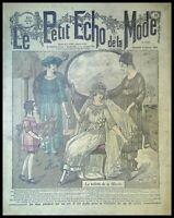 Le Petit Echo de la Mode année 1919, Ancien magazine Français N°6