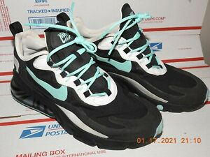 NIKE AIR 270 REACT OC19 Men's Athletic Sneakers Black/white/blue Color Size 9.5