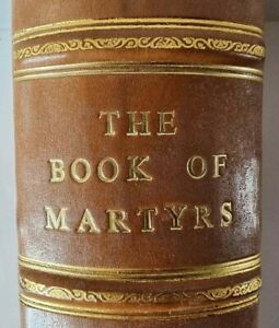 1760 JOHN FOX BOOK of MARTYRS / LARGE FOLIO / FINE BINDING / BIBLE INTERRST !!!