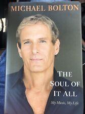Michael Bolton Autograph Signed Book The Soul of it All HC Jsa Coa