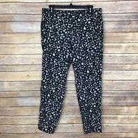 Banana Republic Factory Womens 8 Soft Print Ankle Pants Slim Straight Leg Dress