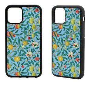 William Morris Blue Pomegranate iPhone Rubber Case 12 Mini,SE 2020,11Pro Max,XR