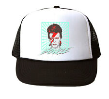 David Bowie Icon Trucker Hat Mesh Cap Snapback Adjustable Brand New-Black