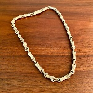 """TIFFANY & CO. STERLING SILVER NATURE BAMBOO LINK NECKLACE W/ BOX 16"""""""