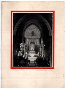 Midcentury Handmade Xmas Card w/Original Photo – All Angels Church New York