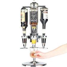 Spillatore per liquore da tavolo per 4 bottiglie dispenser dosatore rotante bar