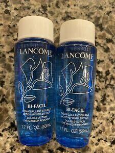 LOT 2 New! Lancome Bi-Facil Double Action Eye Makeup Remover 1.7oz/50ml x2