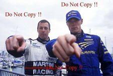 Colin McRae & Richard Burns WRC Portrait 2001 Photograph