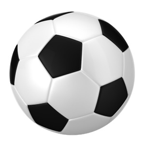Soccer Ball Edible Birthday Party Cake Decoration Topper Image
