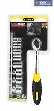 Stanley 94-611 MicroTough™Umschaltknarre mit 12-Kant Steckschlüsseln 3/8'',9 tlg
