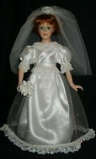 HANDMADE  VICTORIAN  BRIDE DOLL WEDDING GOWN....EXCLUSIVELY BY SPECIAL CREATIONS