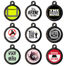 Funny Pet Dog Cat Name ID Tags For Collar - Engraved FREE - Cute Pet Tags Discs