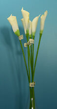 "Six Quality 24"" Calla Bud Artificial Faux Silk Flower Stem"