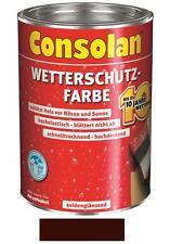 Consolan Wetterschutz-Farbe Dunkelbraun 10 Liter NEUWARE Art. Nr. 5087487