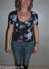 tee shirt noir stretch MC PLANET taille 48 NEUF ÉTIQUETTE ** haut de gamme **