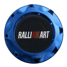 Billet Aluminum Blue Engine Filter Oil Cap Tank Cover Ralliart For Mitsubishi