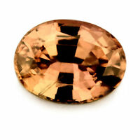Certified Natural 0.98ct Unheated Peach Sapphire Madagascar Oval VS Clarity