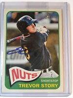 2014 Topps Heritage Baseball #11 Trevor Story Rookie on Card Auto *Rockies*