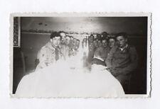 PHOTO Repas Groupe Militaire Soldat Jeu de lumière Blanche Curiosité 1910 Ligne