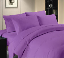 Lilac Solid 1000 Thread Count Best Egyptian Cotton Linen Bedding Item UK-Sizes