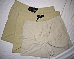 Mens Lot of 3 Khaki COLUMBIA OMNI-SHADE Technical Outdoor Shorts size XL