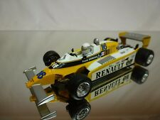 QUARTZO RENAULT RE20 1980 ELF- RENE ARNOUX - F1 YELLOW 1:43  - GOOD CONDITION