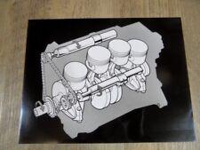 ZEICHNUNG SAAB 2.3 Liter Motor mit Ausgleichwellen SR1017