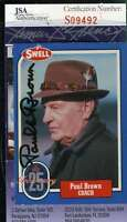Paul Brown Jsa Coa Autographed 1988 Swell Authentic Hand Signed