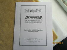 1923 Dempster 1 1/2hp 1k & 2 1/2hp 2h Gas Engine Instruction/Repair Manual