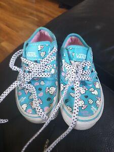 Hello Kitty Girls Vans Size 12 Euro 30