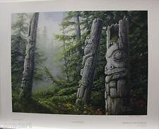 "Marla WILSON "" Haida Impressions"" LTD art print TOTEM POLES Gwaii mint with COA"