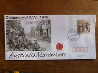2018 CENTENARY WWI LAST 100 DAYS ILLUSTRATED FDC FIRST DAY COVER