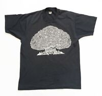 Vintage Rock Shirt Men Size XL Family Tree of British Rock Tshirt Single Stitch