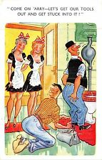 POSTCARD   COMIC    Chambermaids  Workmen  Tools....