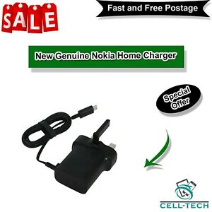 New Genuine Nokia Home Charger For Lumia 435,630,635,520,530,535,550,640,650 XL