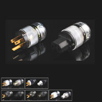 Black SONARQUEST BLK 24K Gold Plated IEC Connector and US Plug power plug 1 pair
