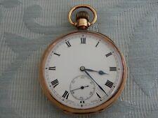 "Solid 9ct Rose Gold 1924 Gent's pocket watch, high grade Swiss ""Minerva"" Mvmnt"