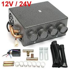 12V/24V Copper Underdash Compact Heater Heat + Speed Switch Defroster Demister