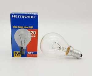 3x Heitronic round Bulb E14 25W Warm Tones Bulbs For Holiday Lights