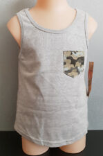 BNWT Boys Sz 8 Hashtag Rivers Brand Grey Camo Pocket Stretch Muscle Tank Top