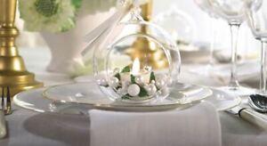"Set of 3 Luminara Blown Glass 4"" Flameless Tea Light Candle Ornament White NIB"