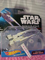 STAR WARS ROGUE ONE Starships REBEL U-WING FIGHTER✰2016 HOT WHEELS✰Flight Stand
