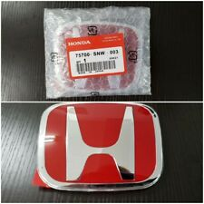 Honda 06-15 Civic 4DR Sedan FiT JDM RED H Type R Front Emblem badge logo (003)