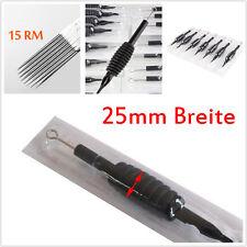rostfrei Edelstahl Tattoospitzen 15 Round Magnum Nadeln 25mm Griffe