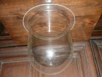 großes altes Ersatzglas für Schiffslampe Aussenlampe mit Auflagerand Griffrand